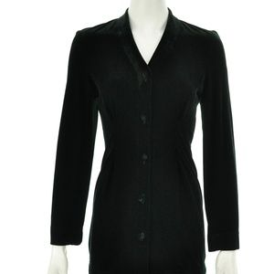 BRUNO DULUC FOR KUSH BLACK VELVET CARDIGAN SIZE L